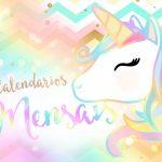 Calendario Mensal Unicornio Capa Calendario Mensal
