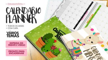 Calendario Mensal para Planner 2019 gratis para imprimir