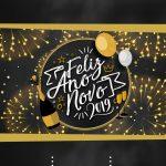 Convite Chalkboard Virtual Reveillon 2019