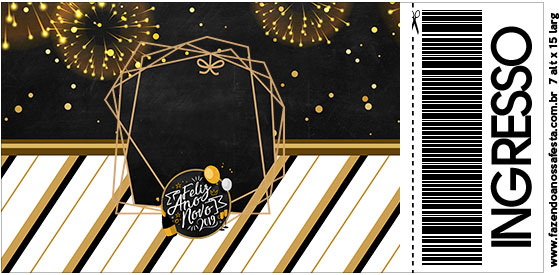 Convite Ingresso Ano Novo 2019