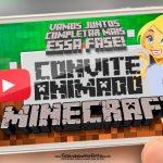 Convite Animado Minecraft Grátis Pronto para Baixar