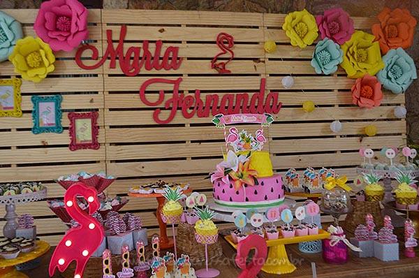 Festa Flamingo da Maria Fernanda