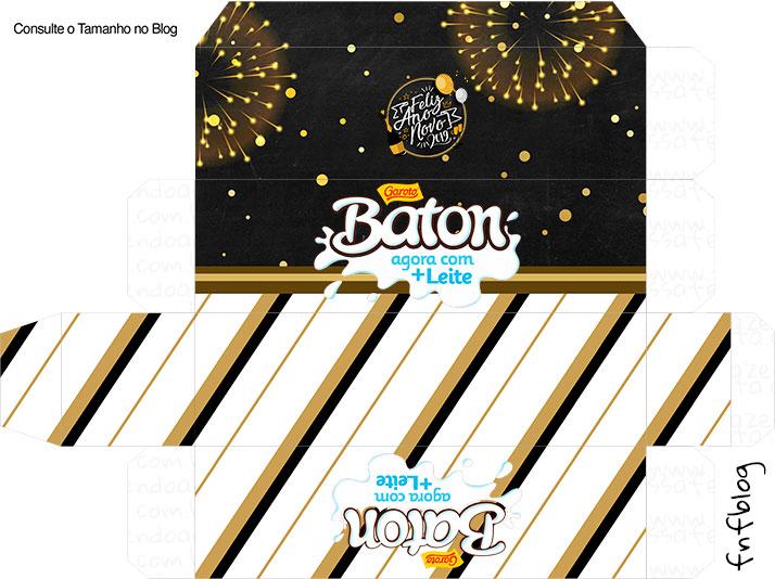Molde Caixa Baton Ano Novo 2019