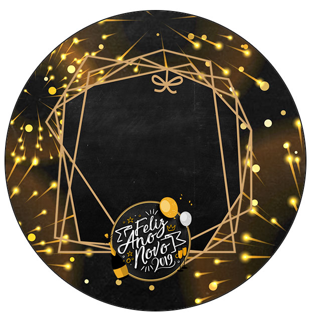 Molde para Latinha Kit Festa Ano Novo 2019