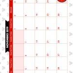 Calendario Mensal Minnie Vermelha Novembro 2019