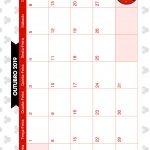 Calendario Mensal Minnie Vermelha Outubro 2019