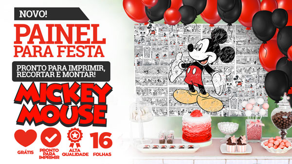 Painel Mickey Mouse