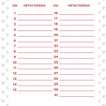Planner Minnie Mouse 2019 metas agosto