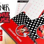 Planner Minnie Vermelha 2019 Grátis para Baixar e Imprimir
