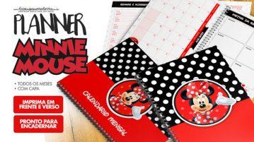 Planner Minnie Vermelha 2019 para imprimir