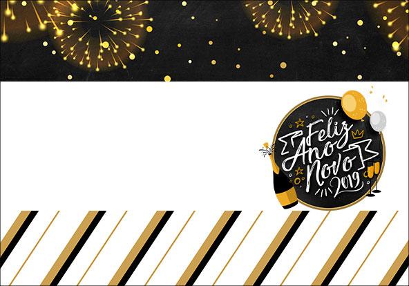 Plaquinha para Comida Kit Festa Ano Novo 2019