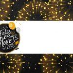 Plaquinha para Comida Modelo 2 Kit Festa Ano Novo 2019