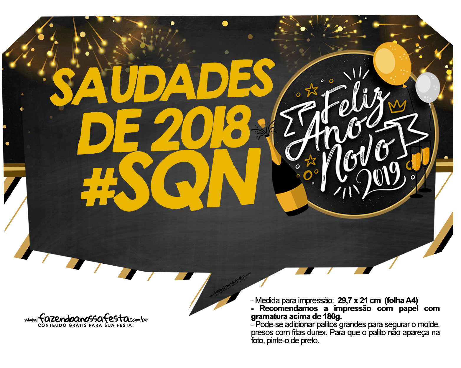 Plaquinhas Reveillon 2019 5