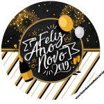 Rotulo Latinhas, Toppers e tubete Kit Festa Ano Novo 2019
