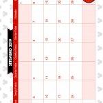 Calendario Mensal Minnie Vermelha Setembro 2019