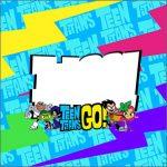 Adesivo Acrilico Quadrado Teen Titans Go