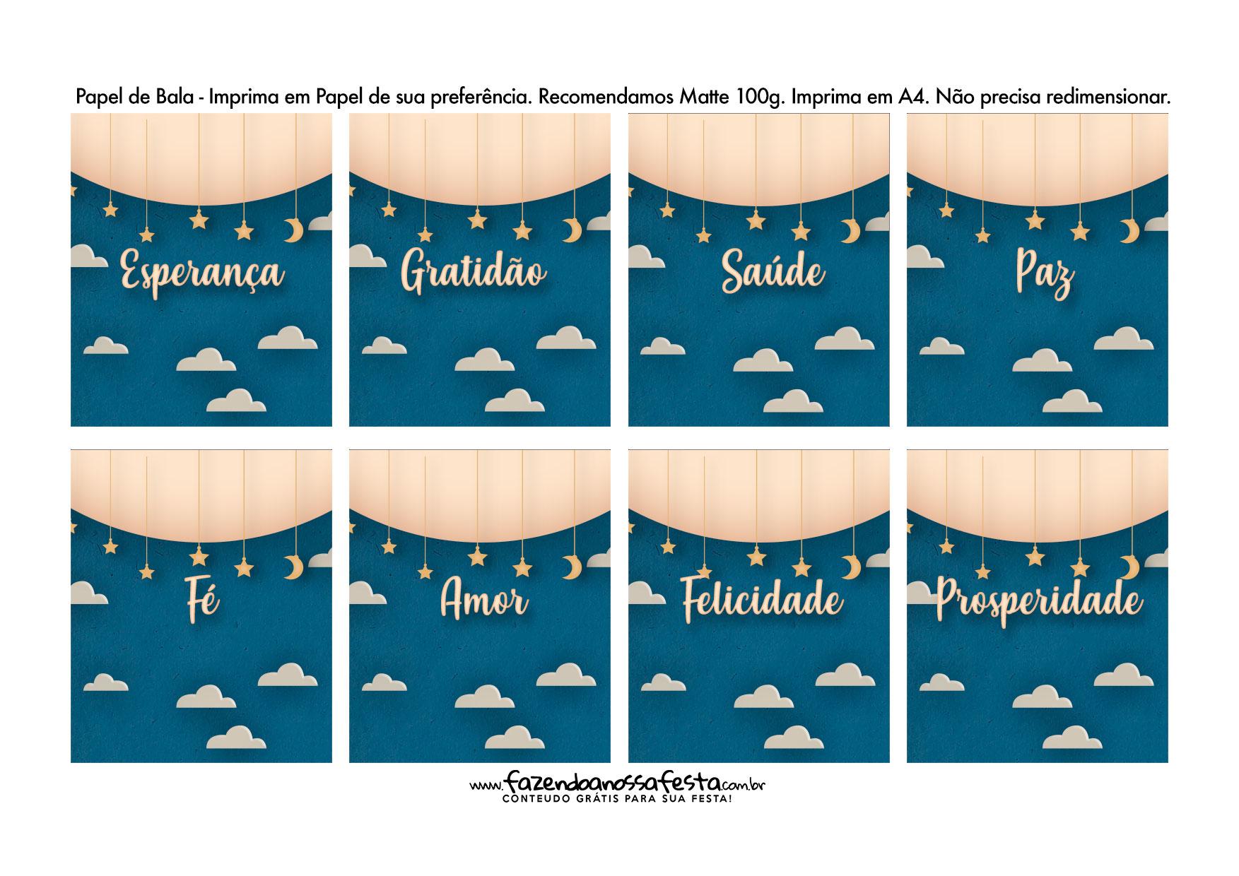Bala personalizada para Natal Azul Papai Noel