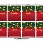 Bala personalizada para Natal Vermelho e Verde