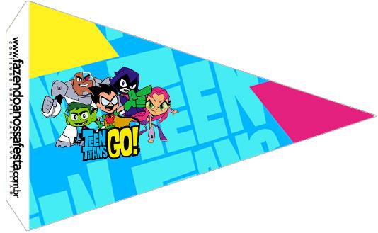 Bandeirinha Sanduiche 2 Jovens Titans