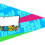 Bandeirinha Sanduiche 5 Jovens Titans
