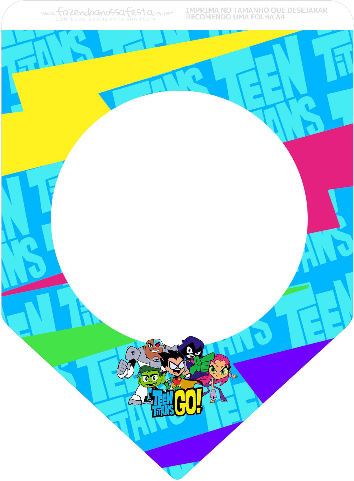 Bandeirinha Varalzinho 3 Jovens Titans