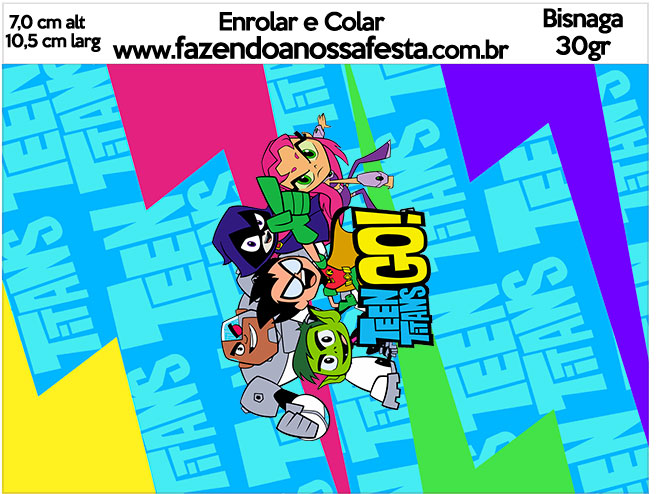 Bisnaga Brigadeiro 30gr Teen Titans Go