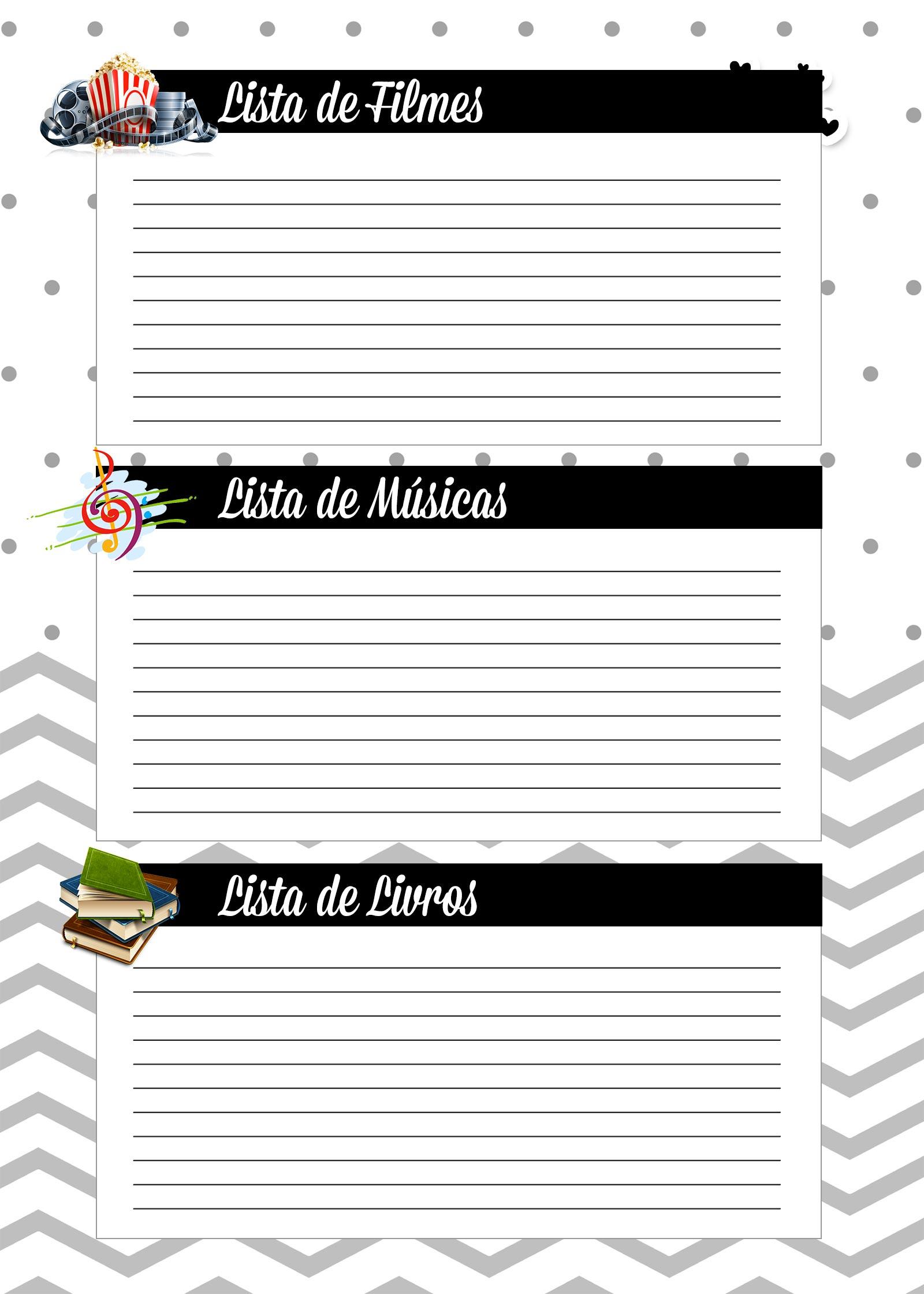 Caderno de Planejamento para Professores Lista de Filmes Musicas Livros Panda