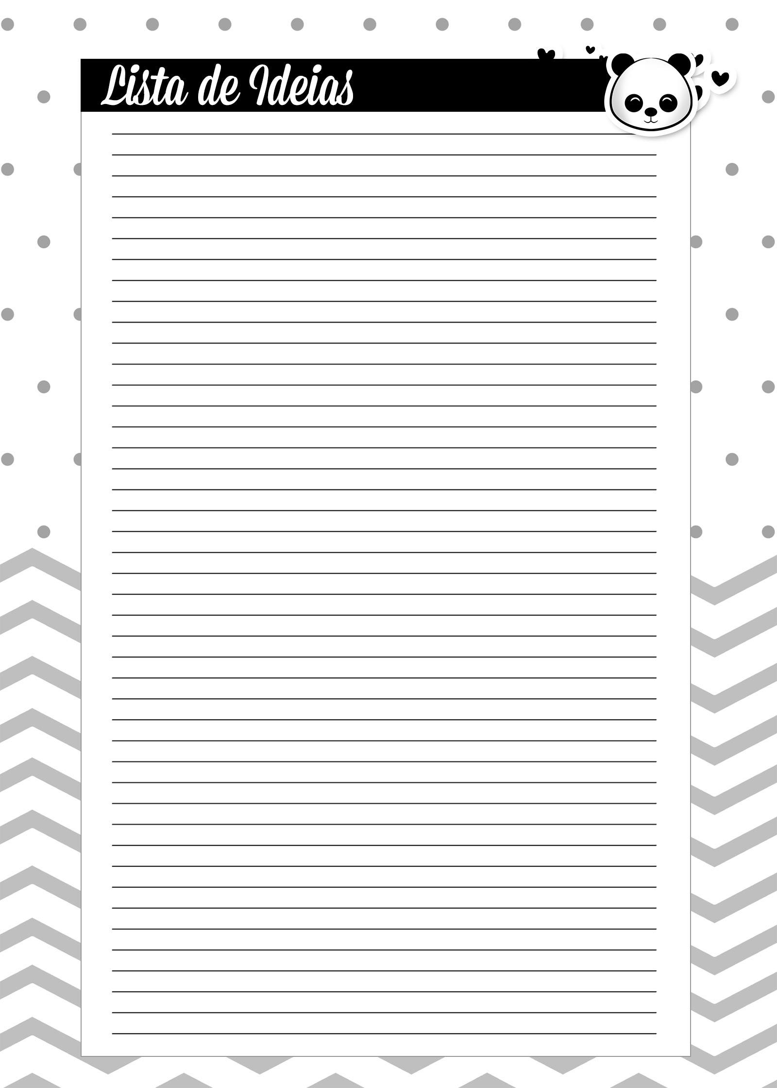 Caderno de Planejamento para Professores Lista de Metas Panda