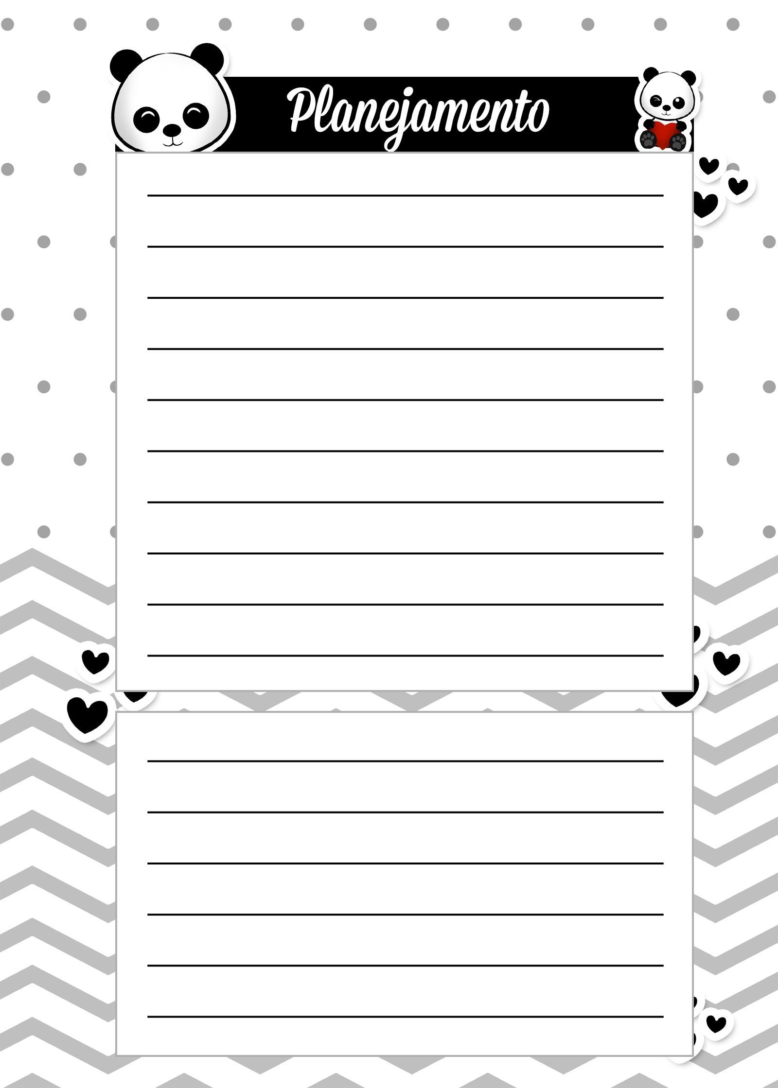 Caderno de Planejamento para Professores Planejamento Panda