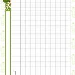 Planner para Professores Tema Cactos Tabela em Branco