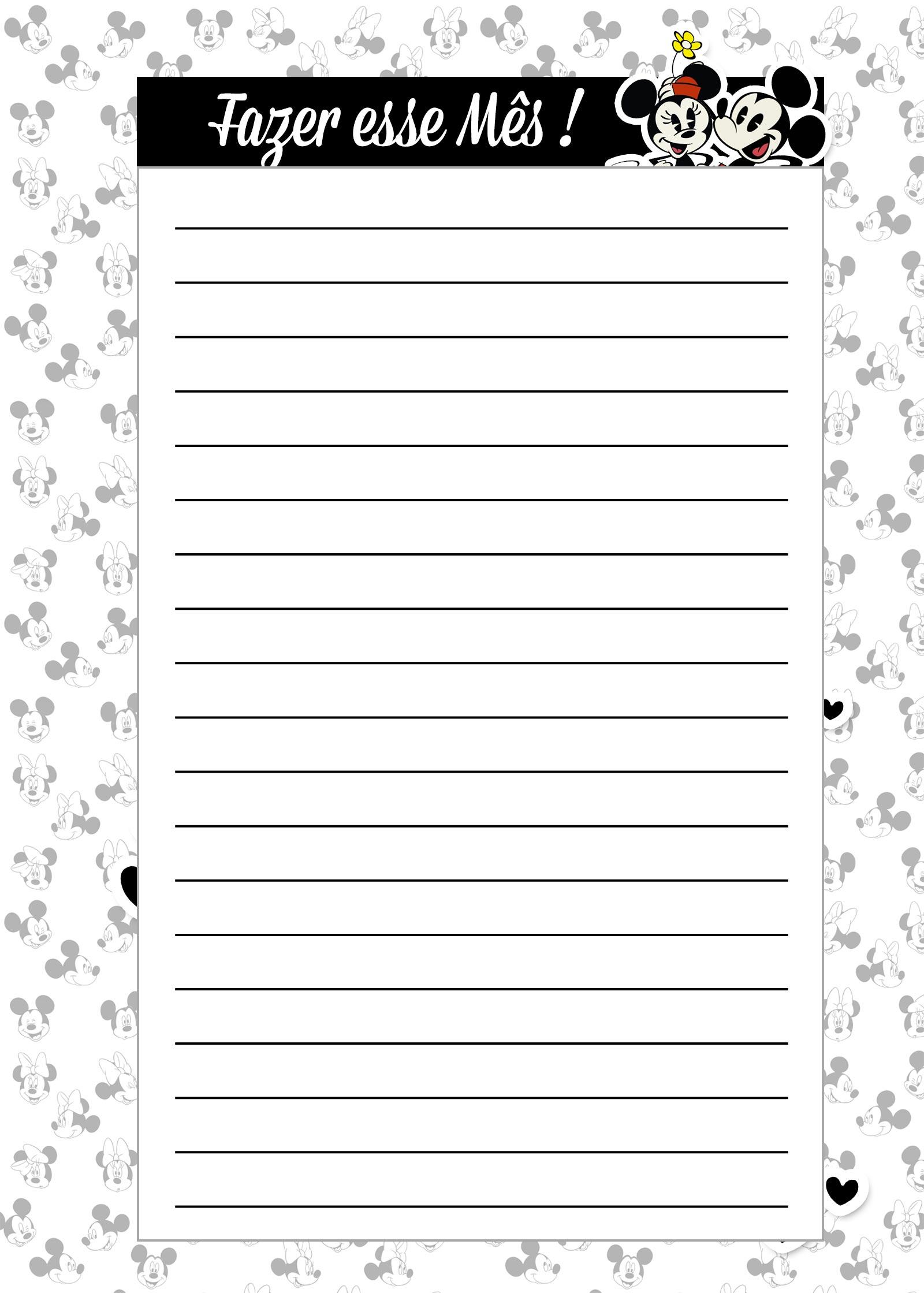 Caderno de Planejamento para professores Fazes esse Mes Mickey e Minnie