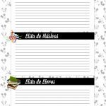 Caderno de Planejamento para professores Lista de Filmes Musicas Livros Mickey e Minnie
