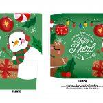 Caixa Mini Panetone Boneco de Neve e biscoito 1