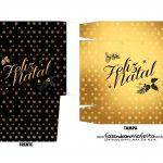 Caixa Mini Panetone Natal Black Gold 1