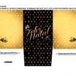 Caixa Mini Panetone Natal Black Gold 2