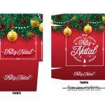 Caixa Mini Panetone Natal Vermelho 1