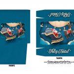 Caixa Mini Panetone Papai Noel Treno 1