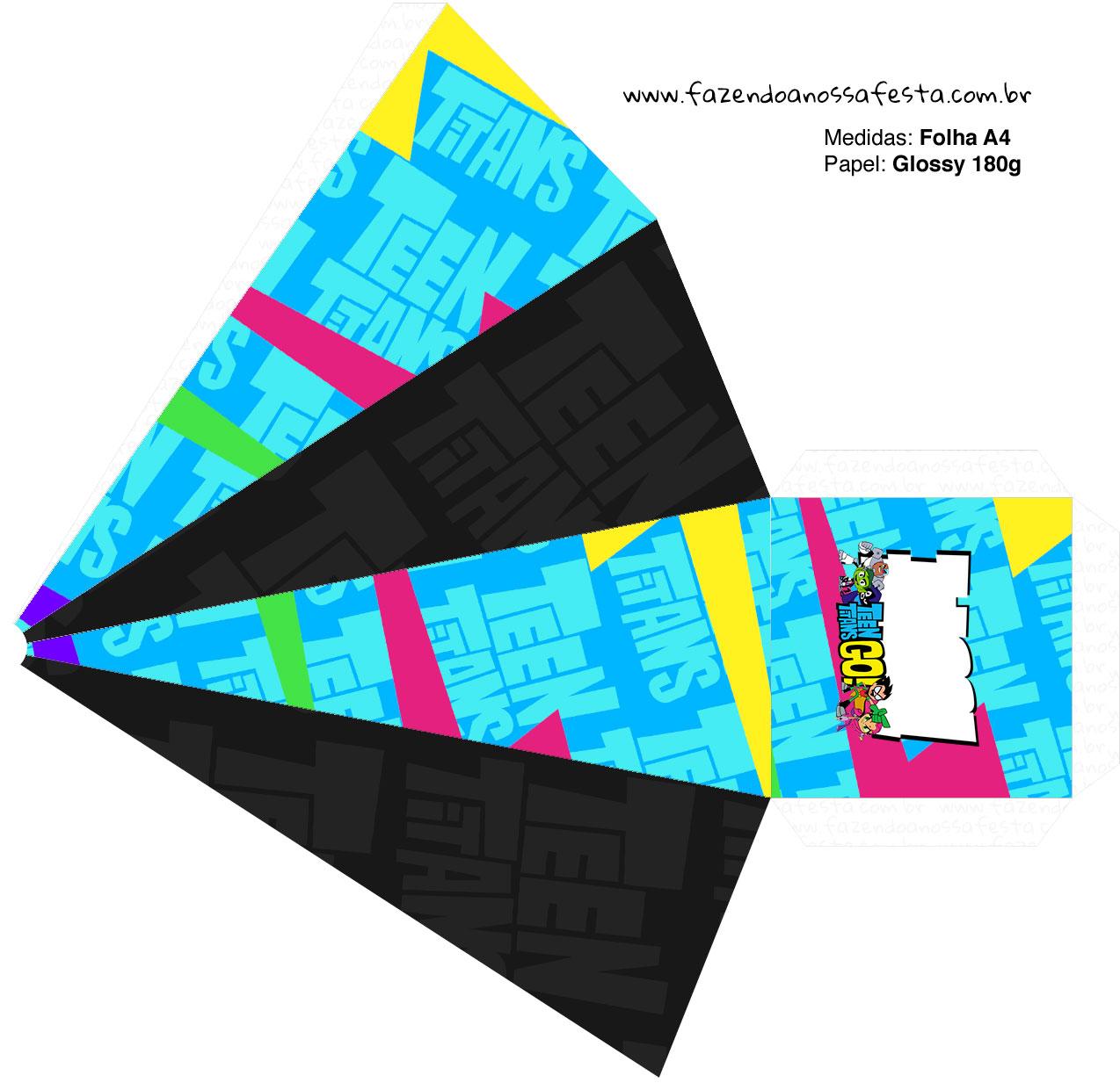 Caixa Piramide 2 Jovens Titas
