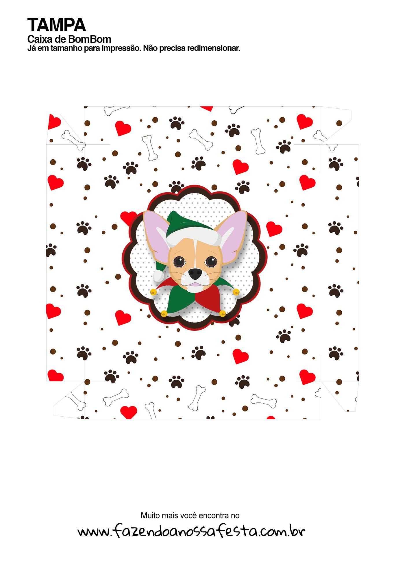 Caixa bombom Cachorros chihuahua