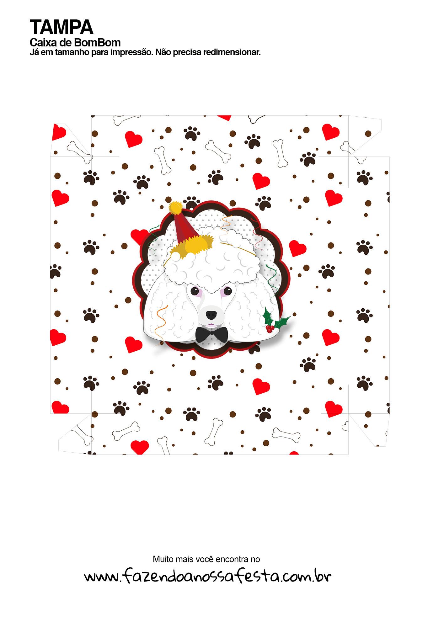 Caixa bombom Poodle