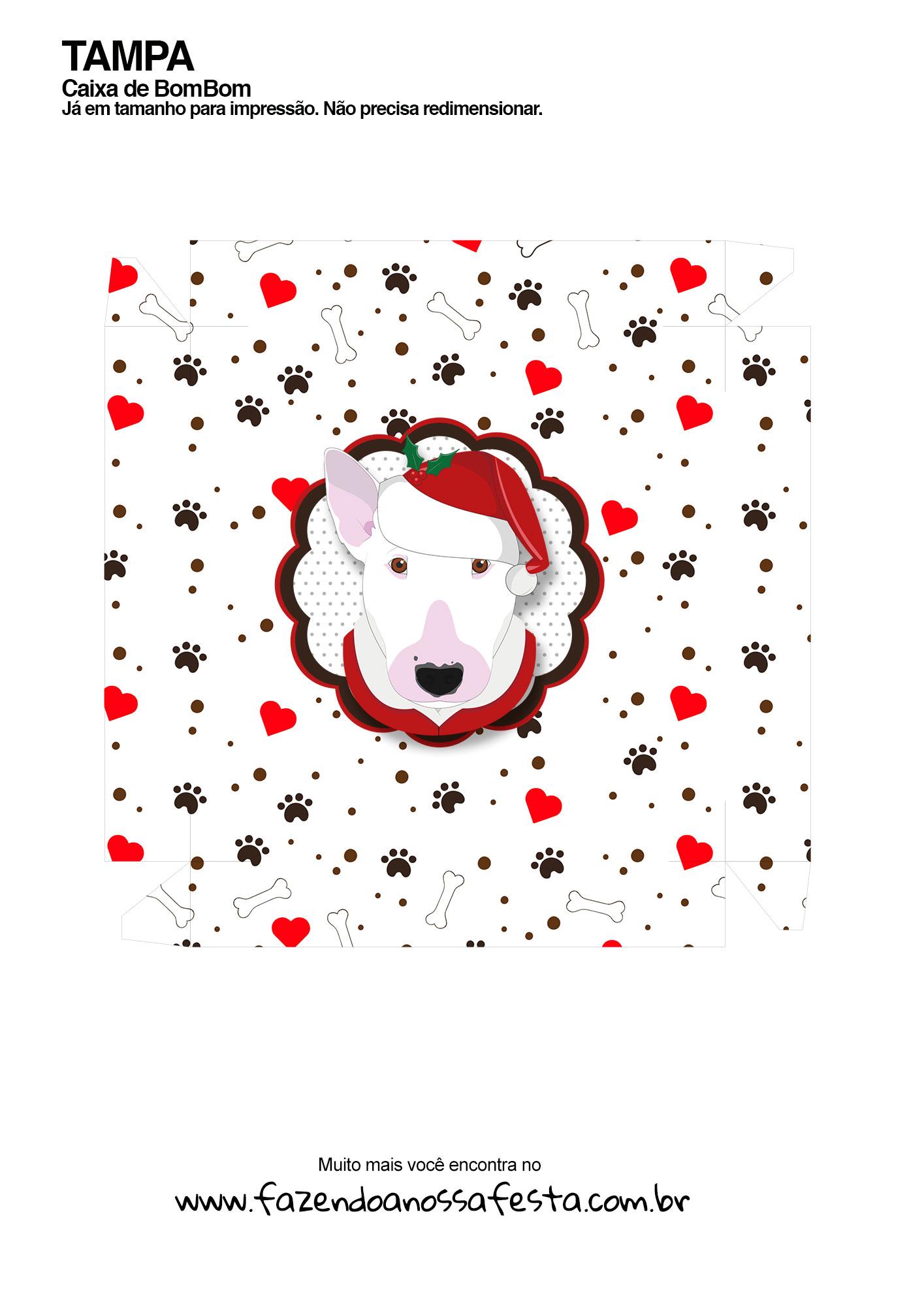 Caixa bombom bull terrier