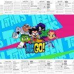 Calendario 2019 Jovens Titans