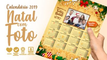 Calendario 2019 Personalizado com Foto gratis