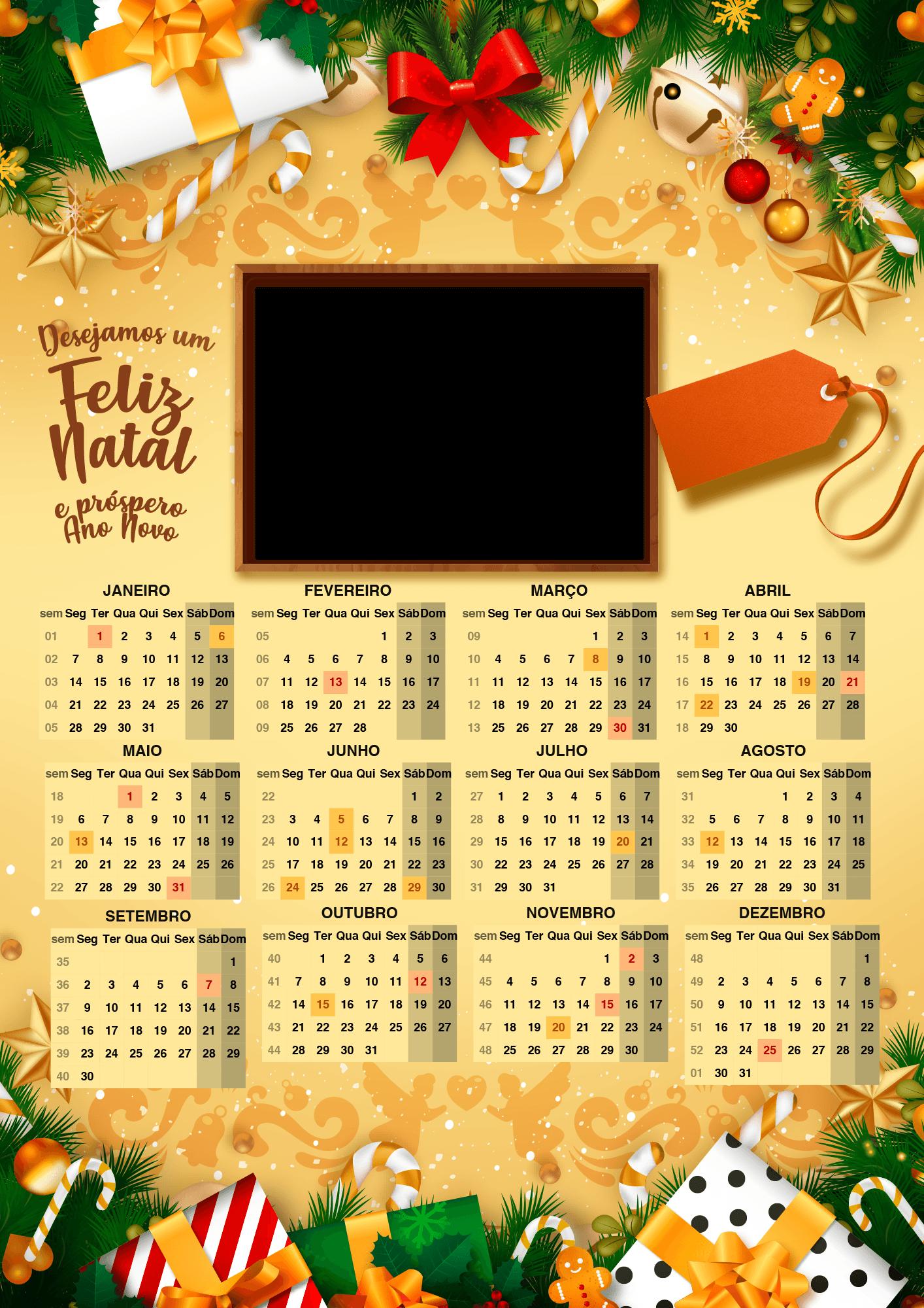 Calendario 2019 Personalizado com Foto para imprimir gratis 1