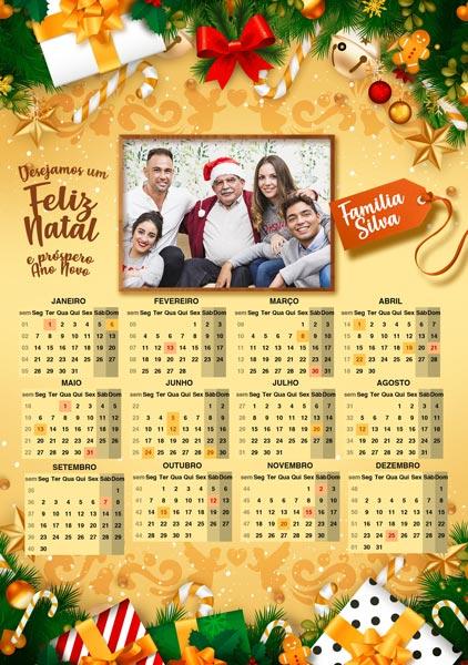 Calendario 2019 Personalizado com Foto preenchido 1