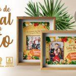 Cartão de Natal Personalizado com Foto Grátis para Imprimir