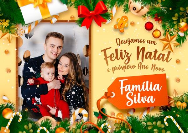 Cartao de Natal Personalizado com foto preechido 2