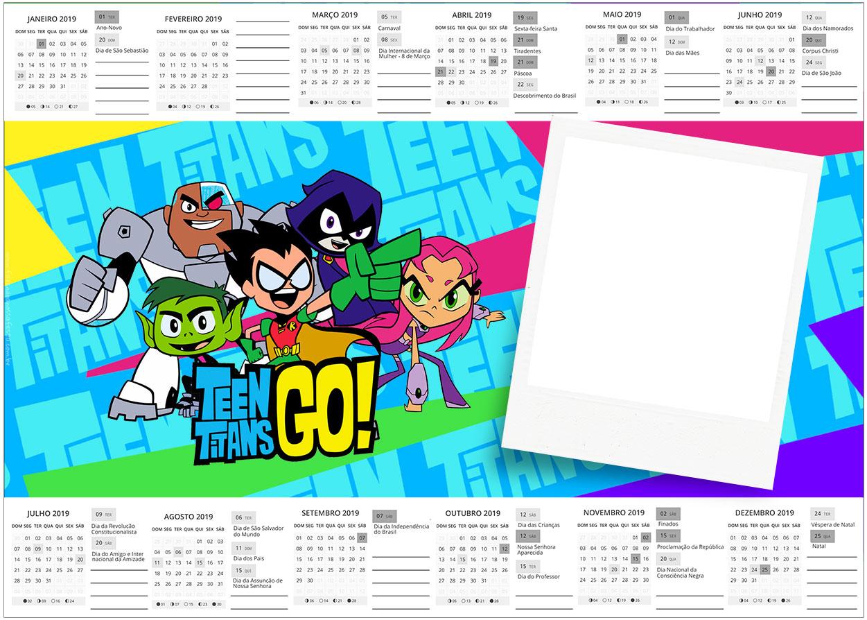 Convite Calendario 2019 Jovens Titans