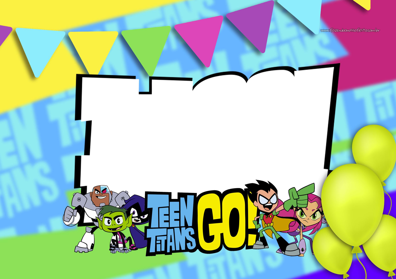 Convite Digital Jovens Titans Fazendo A Nossa Festa