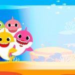 Etiqueta Escolar Baby Shark familia para editar